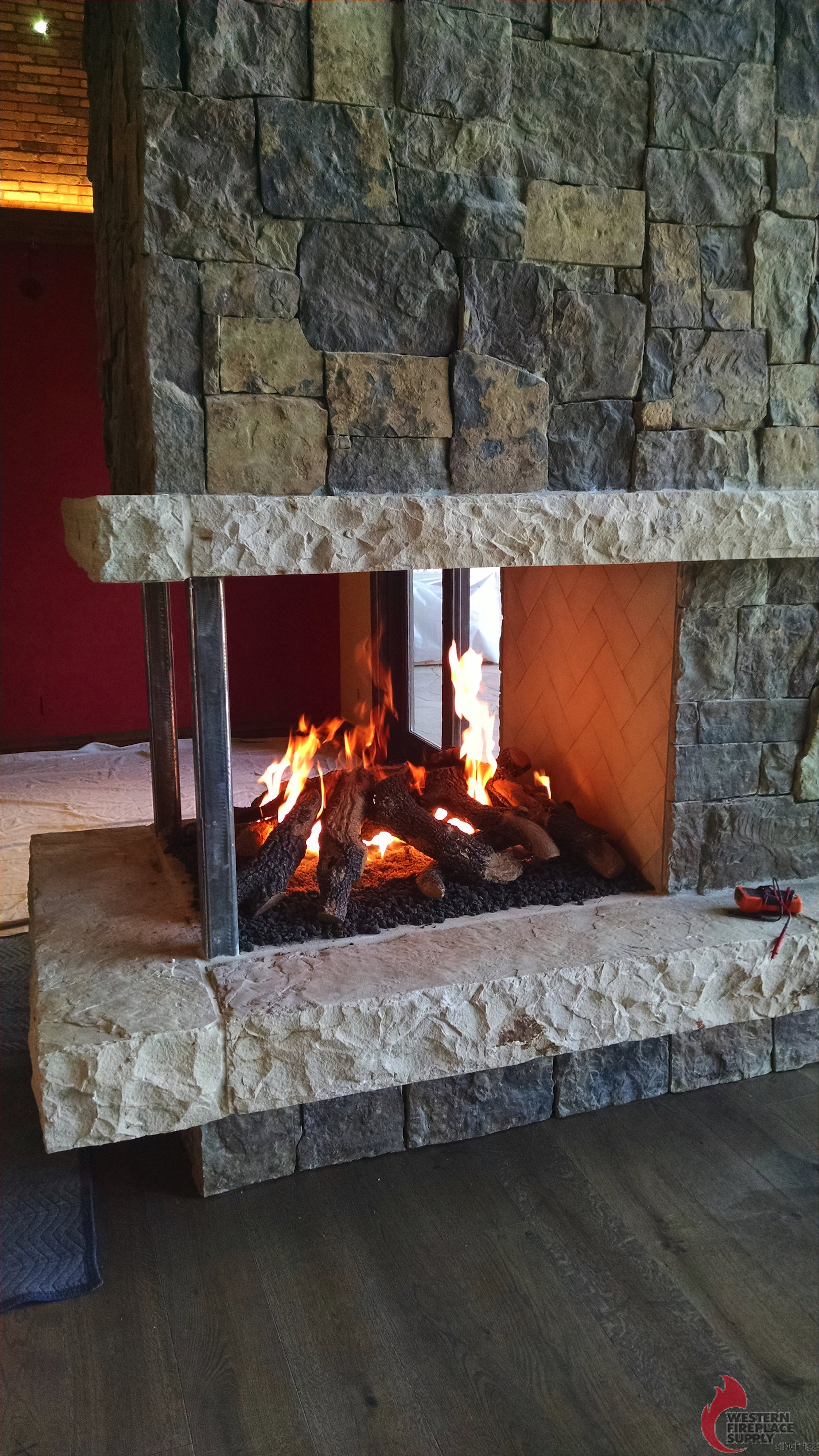 Three Sided Fireplaces Capo Artisan Series